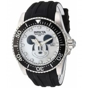 Invicta Watches Invicta Men's 'Disney Limited Edition' Automatic Stainless Steel and Silicone Casual Watch ColorBlack (Model 22748) Mother of pearlBlack