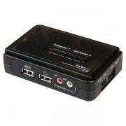 StarTech 2-poorts USB KVM switch met audio + kabels