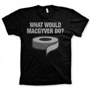 Geen MacGyver zwart t-shirt heren