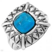 Дамски сребърен пръстен с естествен тюркоаз