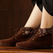 Trendy Look Brown Fur Casual Boots