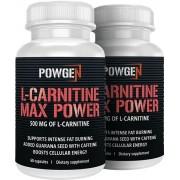 PowGen L-Carnitin Max Power 500 mg 1+1 GRATIS Reinste L-Carnitin auf dem Markt - Carnipure® 2x 60 Kapseln PowGen