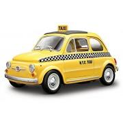 Bburago 1:24 Fiat 500 Taxi (Colors May Vary)