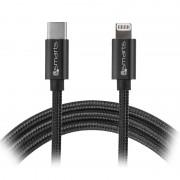 4smarts iPD Fast Charge USB-C/Lightning Cable - iPhone X/XS max/XR/8/8 Plus, iPad Pro - 1m - Black
