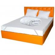 Pachet PROMO dormitor: husa pat + 2 perne + 2 fete perna + pilota 2 persoane