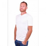 Alan Red T-Shirt V-Hals Oklahoma White (Two pack ) - Wit - Size: Small