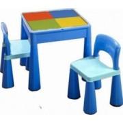 Masuta Guliver cu 2 scaune - Albastru