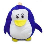 Sleep Nature's Velvet Penguin Cushion   Sleep Nature's Velvet Fabric   Soft Toys   Suitable Soft Toy for Kids   Perfect Gift for Kids Cushion