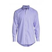 ランズエンド LANDS' END メンズ・ノーアイロン・スーピマ・ピンポイント/柄/ボタンダウン/スリムフィット/長袖/シャツ(クリアブルーホワイトストライプ)