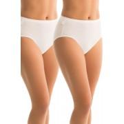 Womens Sloggi Hikini 2Pack - White Lingerie