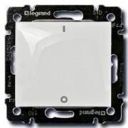 Выключатель одноклавишный двухполюсный Legrand Valena 10A белый