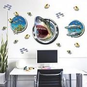 Jaamso Royals ' Underwater World Wall Stickers Sea Fish Star Carton ' Wall Sticker (PVC Vinyl 90 cm X 60 cm Decorative Stickers)