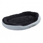 PremiumXL - [en.casa] Krevet / ležaj za pse - mačke - S dvostranim jastukom - Oxford tkanina / PP-pamuk - 110 x 80 x 23 cm PremiumXL - [XL] - sivo / crno