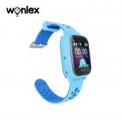 Ceas Inteligent pentru copii WONLEX KT04 Albastru, cu GPS, rezistent la apa, localizare WiFI si monitorizare spion