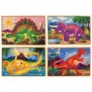 Дървен пъзел 4 в 1 Динозаври Melissa and Doug, 000772137911