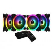 Set 4 ventilatoare Gamdias Aeolus M2 1204R, 120mm, iluminare RGB