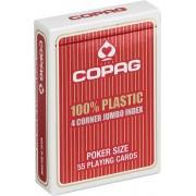 Plastic speelkaarten Rood 4 hoeken - Copag