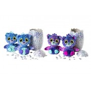 Spin Master Hatchimals Surprise! Hatching Egg with Twin Interactive Hatchimal Creatures Peacat - Who Will You Hatch?