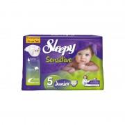 Scutece pentru copii Sleepy Sensitive 5 Junior 36 buc/set
