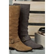 Womens Next Leather Slouch Long Boots - Tan