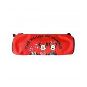 Penar etui tubular Pigna Minnie Mouse negru-rosu MNPE1814-2