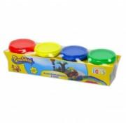 Set de creatie Plastelino tuburi cu plastilina colorata 4 cutii