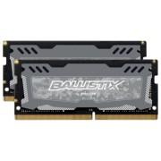 Ballistix Sport LT 32GB Kit DDR4 16GBx2 2400 SODIMM 260pin grey