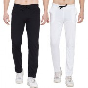 Cliths Stylish Joggers For Men/ Casual Trackpant For Men -Pack Of 2 (Grey Black Black White)