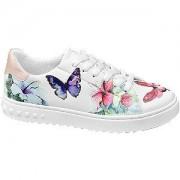 Graceland Witte sneaker bloemen Graceland maat 41