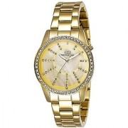 Giordano Quartz Gold Dial Women Watch-G2001-22