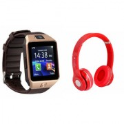 Mirza DZ09 Smart Watch and S460 Bluetooth Headphone for LG OPTIMUS L1 II DUAL(DZ09 Smart Watch With 4G Sim Card Memory Card| S460 Bluetooth Headphone)