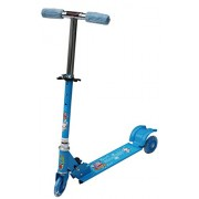 Amardeep And Co Baby Three Wheeled Height Adjustable Scooter With Wheel Lights Anti Slip Foot Grip - Blue