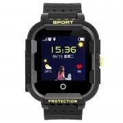 Ceas Inteligent pentru copii WONLEX KT03 Negru, cu GPS, rezistent la apa, localizare WiFI si monitorizare spion