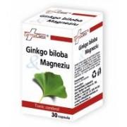 Ginkgo biloba & magneziu 30cps FARMACLASS