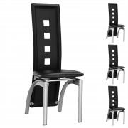 IDIMEX Stuhl Esszimmerstuhl MONICA 4er Set schwarz