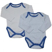 Krivi kids Set of 2 Blue Color Cotton Full Sleeve Baby Rompers .