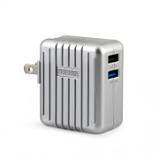 Zendure A-Series 3.4A (2.4A+1.0A) 17W 2-Port USB High-Speed Wall Charger for the A-Series External Batteries, iPhone 6, 6 plus, 5s 5c 5; iPad Air mini; Galaxy S5 S4; Note 3 2; the new HTC One (M8); Nexus and More - Silver