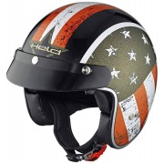 Held Black Bob Jet helma vlajky Design M Černá