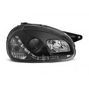 Přední světla, lampy Opel Corsa B, Combo B 93-00 Day light černé
