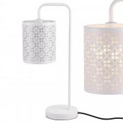 [lux.pro]® Lámpara de mesa blanca de metal - diseño elegante y original
