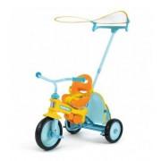 Azzurro valódi szülőkormányos tricikli (bicikli) napernyővel
