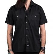 košile pánská WORNSTAR - MASTER Drifter Essentials - Black - WSS-ES01