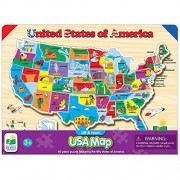 The Learning Lift Journey and Learn USA Map Puzzle