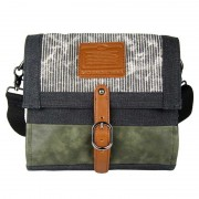 Licence 71195 Jumper Canvas Medium Shoulder Bag Grey LBF10871-GY
