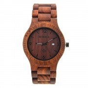 Bewell Retro Bamboo Red Sandalwood Wood Watch