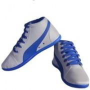 Shoe Striker Long Blue & White Canvas Shoes For Men(Blue, Grey)