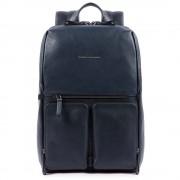 Piquadro Zaino Porta Pc 14 e Tablet in Pelle Blu linea Line CA4541W89