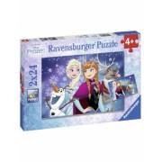Puzzle Frozen, 2X24 Piese Ravensburger