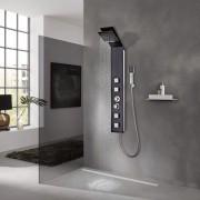 vidaXL Système de panneau de douche Verre Marron