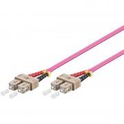 WP Rack Fiber Optic Multimode Patch Cord ,50/125 SC-SC, 1 mt. OM4 ,LSZH, violet color
